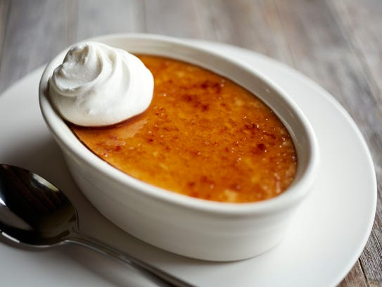 The Pumpkin Creme Brulee at Bonefish Grill