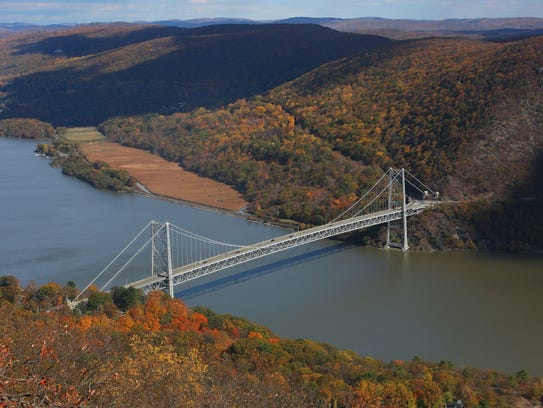 The Bear Mountain Bridge is nestled between Anthony's