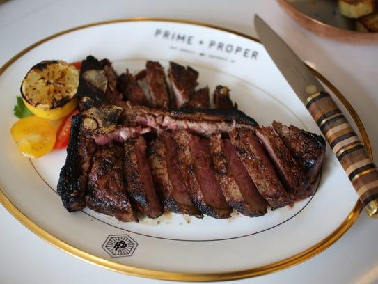 A 24-ounce porterhouse steak ($79) from Prime + Proper,