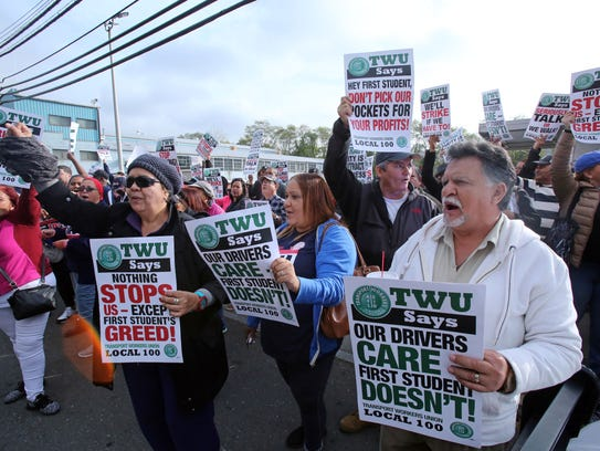 First Mile Square bus workers threaten a strike Nov.
