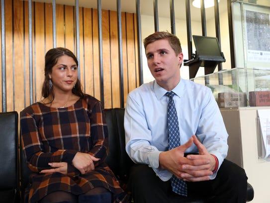 Jenna Mazzella, 25, of Nanuet and Liam Russell, 22,