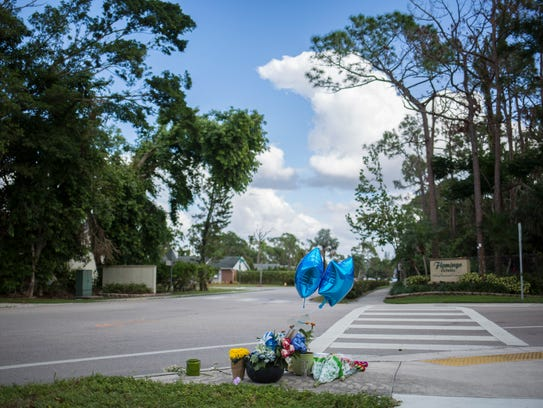 A memorial now sits at the intersection where Shayden
