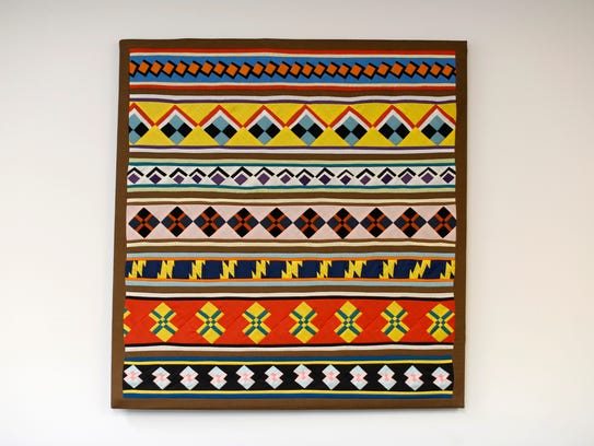 A piece of patchwork, a traditional Seminole and Miccosukee art form, at the offices of Florida Governor's Council on Indian Affairs, pictured Nov. 15.