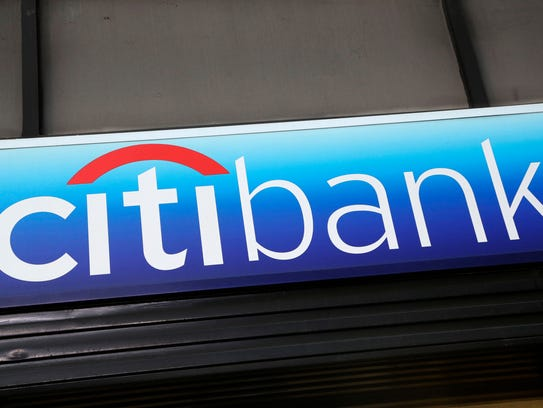 File photo taken in 2015 shows a Citibank sign hangs