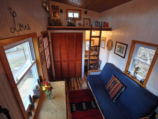 A view of the Tiny Home Malcolm Smith built in Rockland
