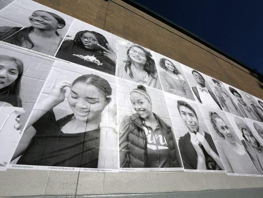 Woodlands High School seniors made a photo mural of