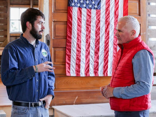 Shane Wulf, a project coordinator in Miller Creek watershed,