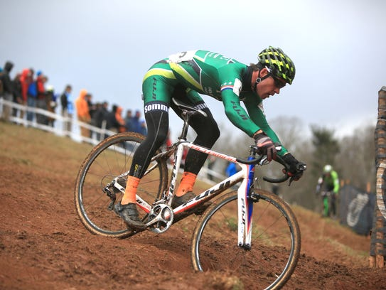 The sport of cyclo-cross involves elements of road,