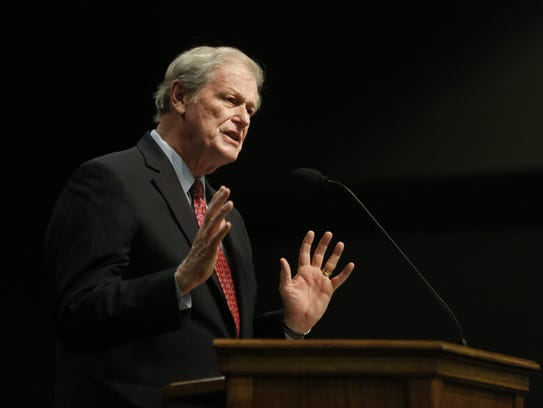 Florida State University President John Thrasher delivers