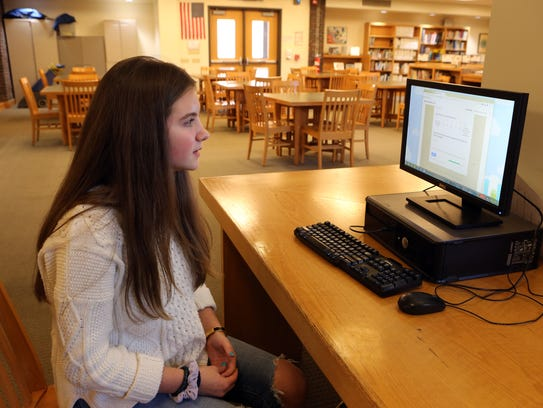 Eighth-grader Lindsay Holton, 13, talks about how she