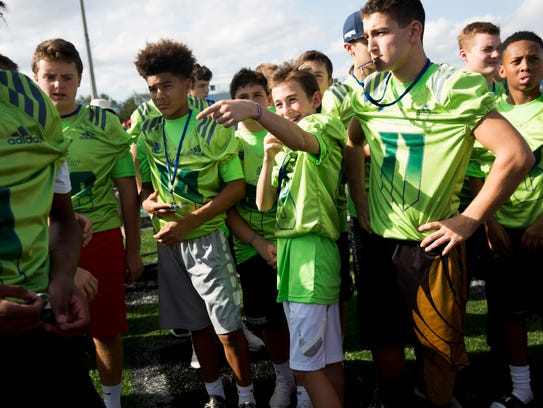 Middle-school football players from across the country
