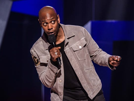 Comedian Dave Chappelle filmed at the Warner Theater