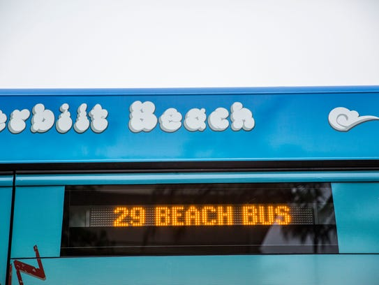 The new beach shuttle starts its North Naples route