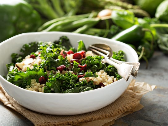 This quinoa salad features another trendy ingredient