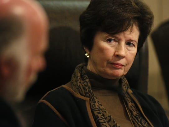 City Commissioner Nancy Miller during a City Commission meeting at City Hall.