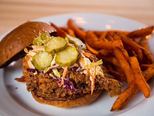 Buttermilk fried chicken with spicy coleslaw, and dill