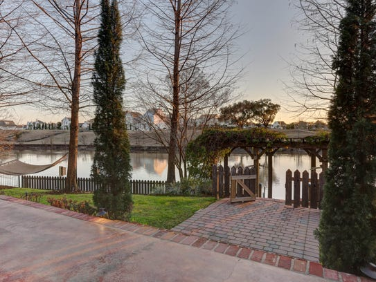 The backyard offers a fabulous view of the Vermilion