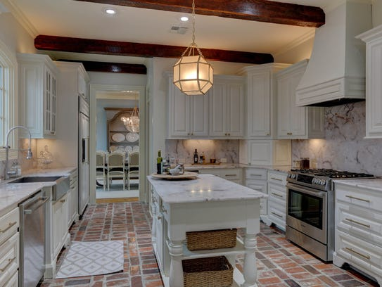 The gorgeous kitchen is a chef's dream.