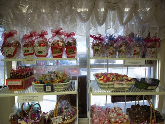 The Chocolate Lady in Mesilla offers chocolate-covered strawberries along with other Valentine's Day candies.