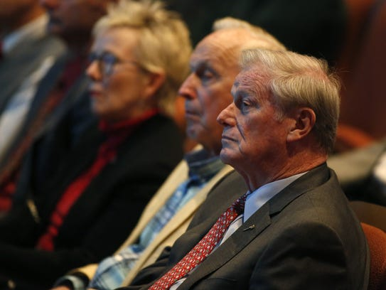 FSU President John Thrasher in the audience at Ruby
