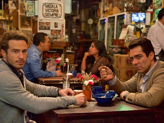 "Ryan Carnes (left) and Omar Chaparro star in ""La Boda"