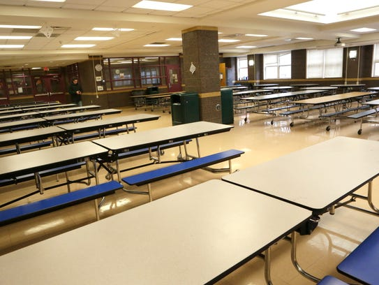 The cafeteria at the Bronxville school which would