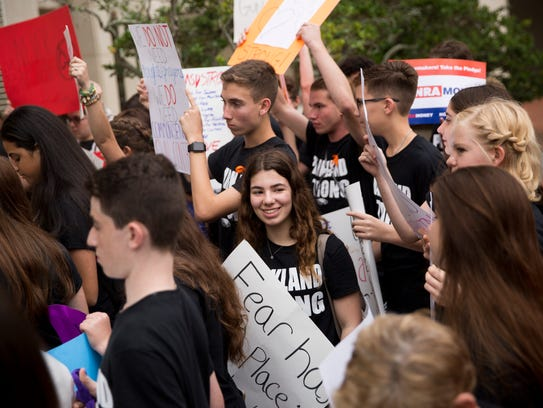 Students from Marjory Stoneman Douglas High School
