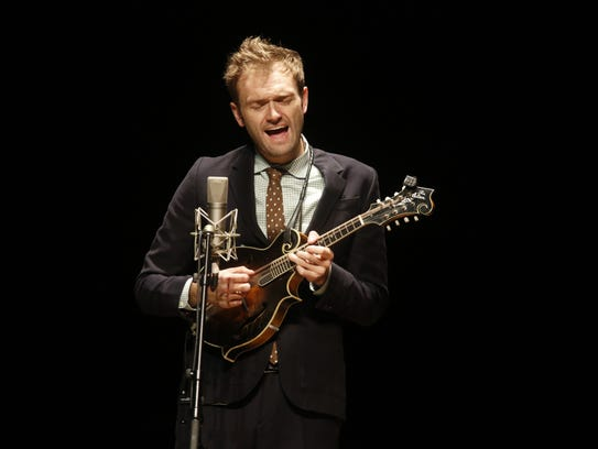 Chris Thile performs at Opperman Music Hall Oct 24,