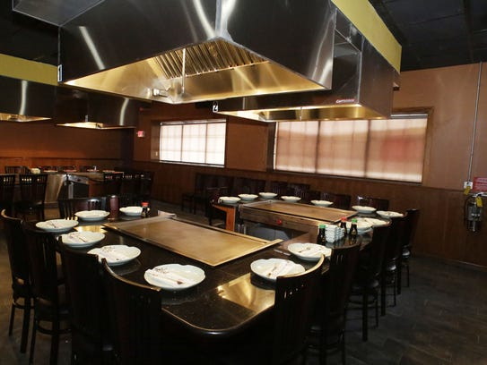 A seating area at Umi Sushi and Steak House as seen,