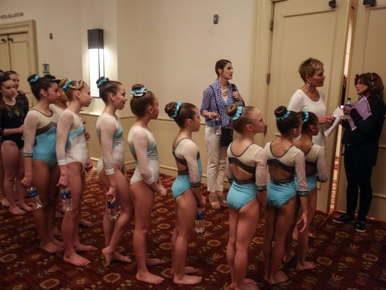 Gymnasts with Aftershocks Gymnastics from Palm Desert