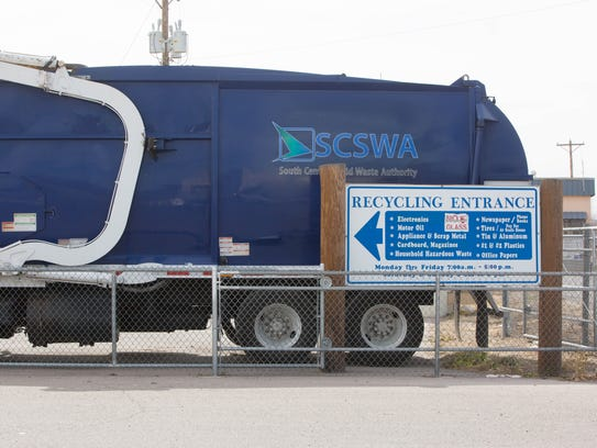 Las Cruces Recycling Center on Amador, handles recycling