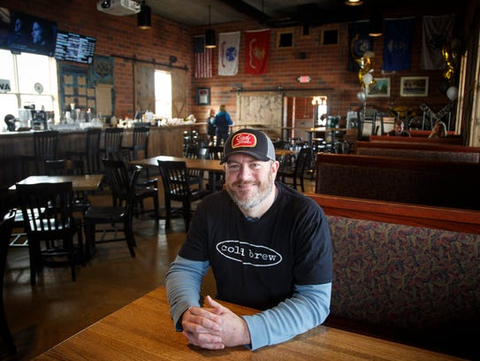 Ryan LaRue, owner of 1884 Coffee Co. Wednesday, March