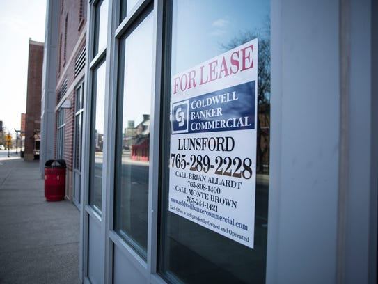 A for lease sign in the window indicated one of two