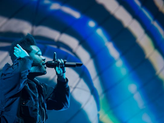 The Weeknd performs on the Coachella stage during weekend