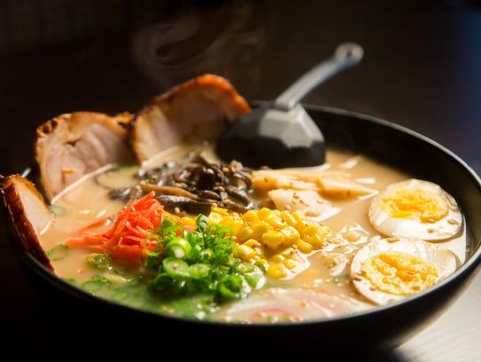 The cha shu ramen from Hana Ramen Sushi in West Des