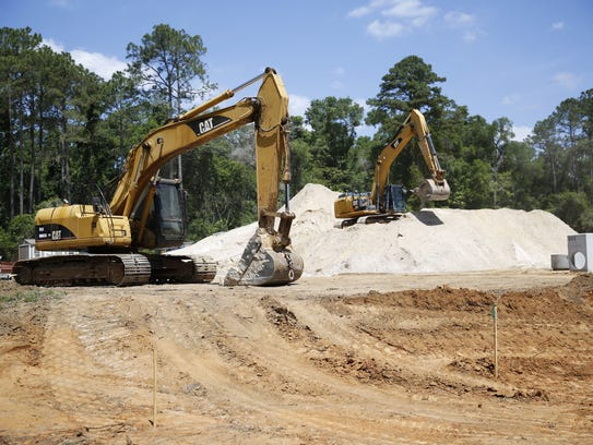Construction is underway on a new office complex on