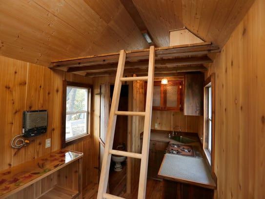 The 100-square-foot tiny home that Sean Spain is selling