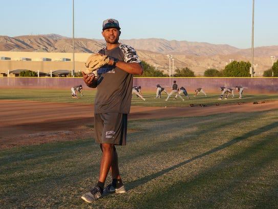 Coco Crisp coaches the Shadow Hills baseball team in