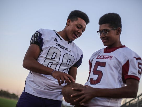 Brothers Christian, right, and Quintcy Egson at Shadow