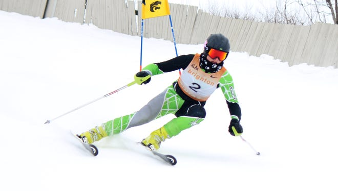 James Staszel won the slalom and was fifth in the giant slalom, helping Brighton's boys win the KLAA championship.