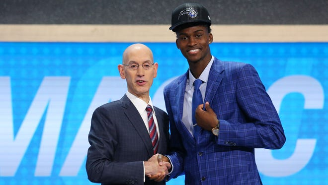 Florida State's freshman forward Jonathan Isaac was selected by the Orlando Magic with the sixth pick in the 2017 NBA Draft on Thursday night in Brooklyn, NY.