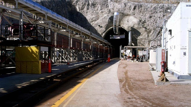 This undated image obtained 22 February, 2004 shows the entrance to the Yucca Mountain nuclear waste repository located in Nye County, Nevada.