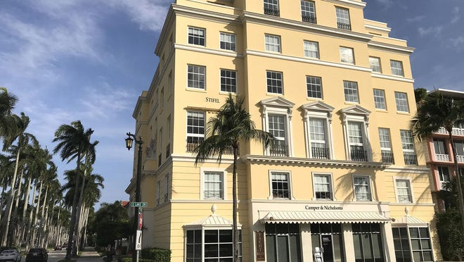 Part of a two-building complex known as Palm Beach Park Centre, a landmarked six-story building at 450 Royal Palm Way, just changed hands with the building next door for a recorded $38.5 million.