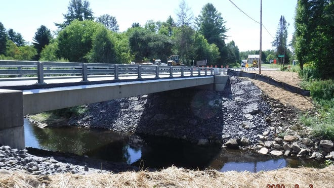 The new Gray-Wilmurt Road Bridge over Black Creek opened to traffic in time for the start of the new school year. SUBMITTED PHOTO