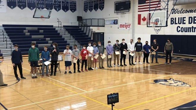 Sault High boys soccer held its postseason awards presentations at the school gym. Gavin Harries and Denvy McCord were Co-MVPs.