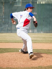 Reno senior Christian Chamberlain led the league in wins and strikeouts and is near the top in almost every category