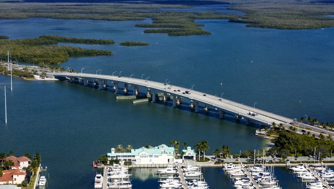 The Judge S.S. Jolley Bridge leading to Marco Island in November 2012.