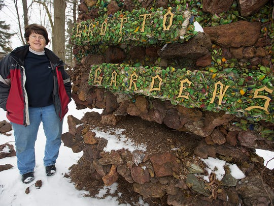 Groundskeeper Kris Willfahrt at the Grotto Gardens in Rudolph, Thursday, Feb. 18, 2016.