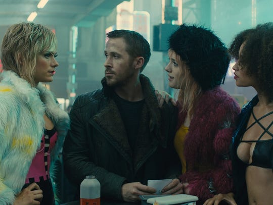 Starring Ryan Gosling (center), 'Blade Runner 2049'
