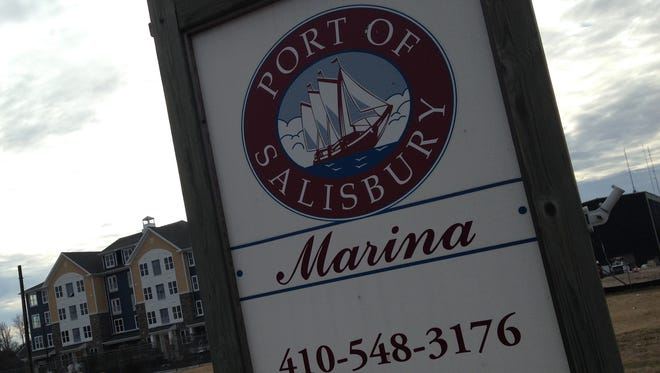 A new sign at the main entrance is part of the aesthetic upgrades planned for the Salisbury Marina.